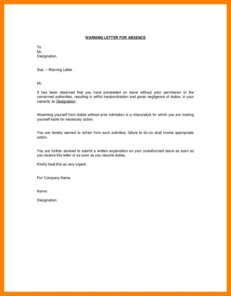 Absent explanation letter 8 explanation letter for absent fancy application letter explanation resume skills excel altavistaventures Images