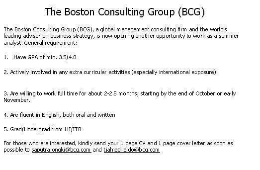 "Kampus Update on Twitter: ""Mau magang di Boston Consulting Group ..."