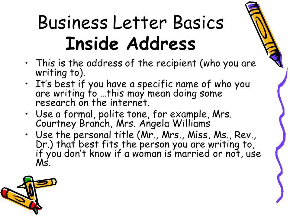 Writing a Business Letter - ppt video online download
