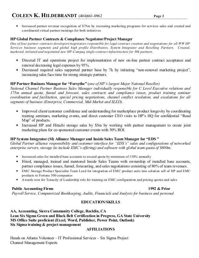 resume and software and sales and enterprise and storage