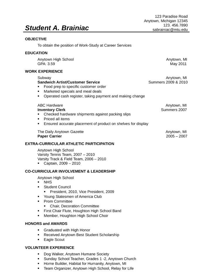 open office template resumes