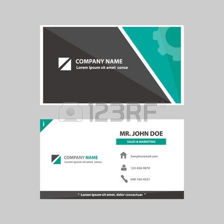 Green And Black Multipurpose Business Profile Card Template Flat ...