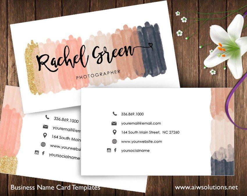 Name Card Template – aiwsolutions