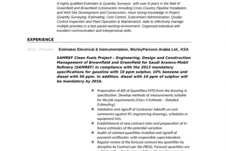 Assistant Estimator Cover Letter] Project Estimator Cover Letter .