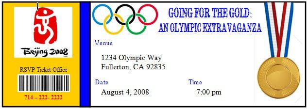 Olympic Party Invitation Template - Themesflip.Com