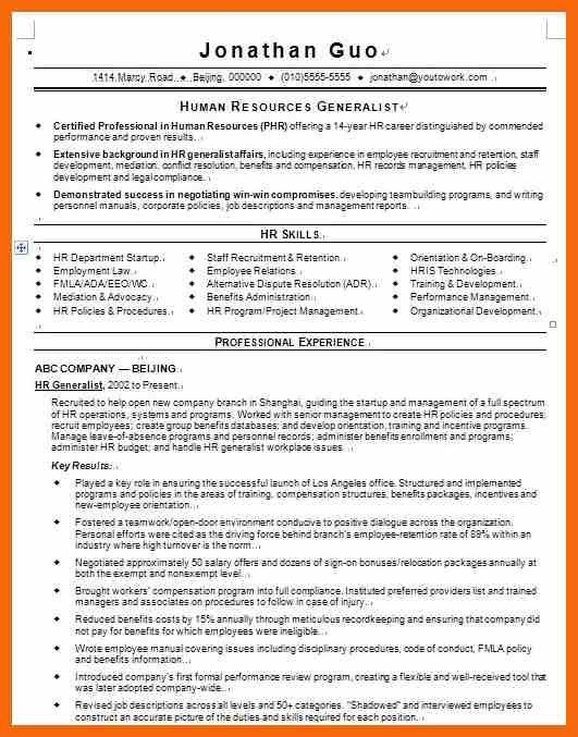 10+ hr generalist resume | credit letter sample