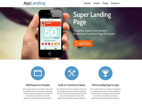 25 Free Landing Page HTML Templates | TemplateMag