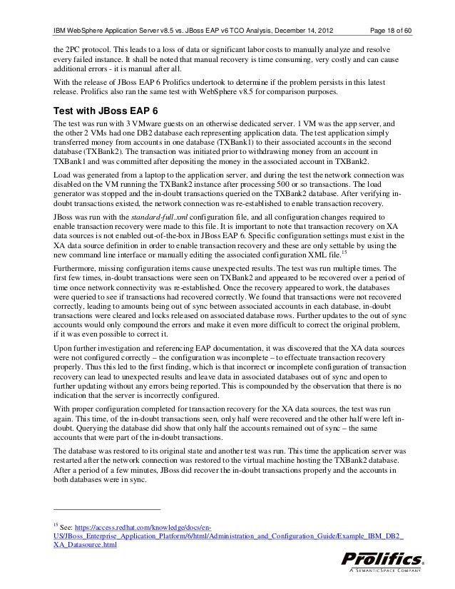 WebSphere Application Server JBoss TCO analysis