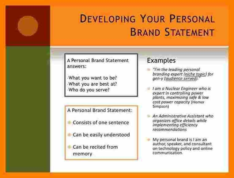 7+ personal branding statement | sephora resume