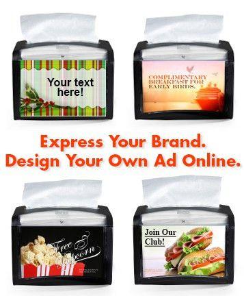 Xpressnap Napkin Dispenser | Design Your Own Ad
