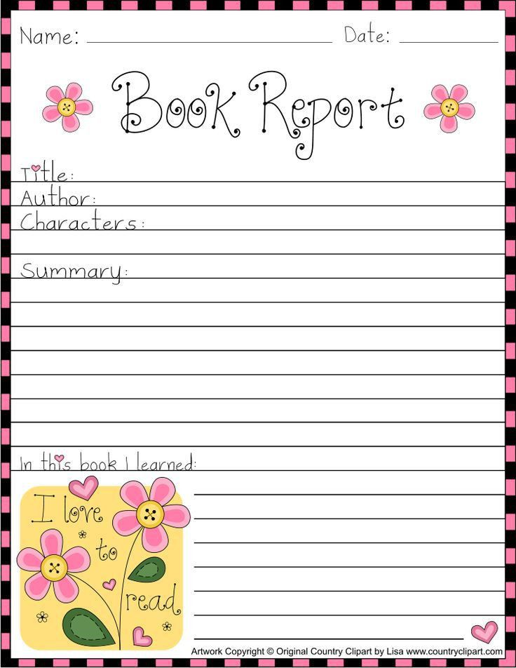 Book report cover sheet | Psychological intake assessment report ...