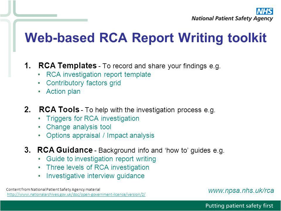 RCA Report Writing. - ppt video online download