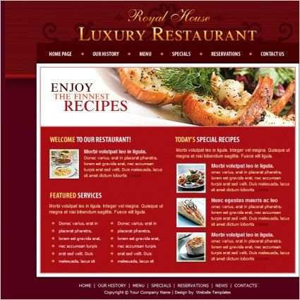 Restaurant free website templates for free download about (13 ...