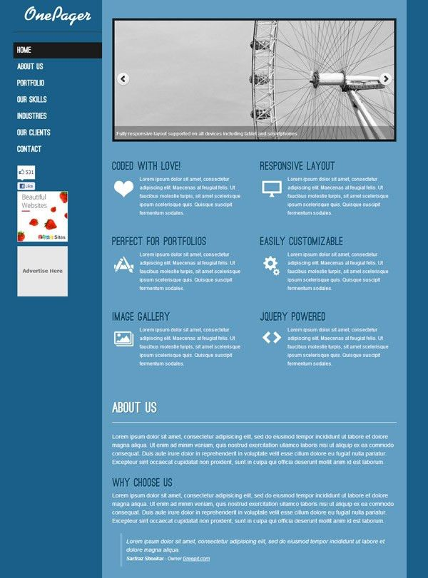 25 Free Website HTML Templates 2012 to Download