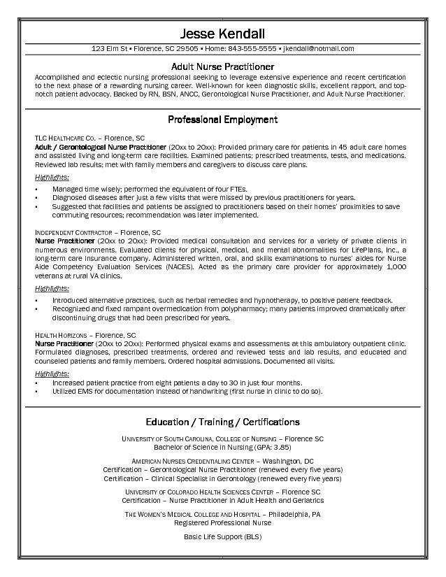 registered nurse resume example sample. sample. sample nursing ...