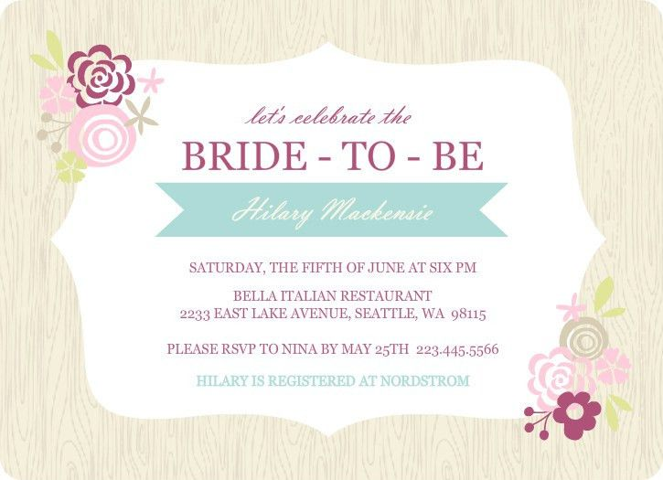 Bridal Shower Invitations Template - vertabox.Com