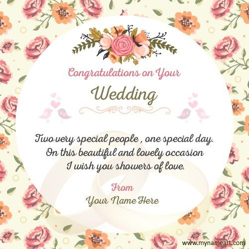 Make Wedding Congratulations Wishes Quotes Card | wishes greeting card