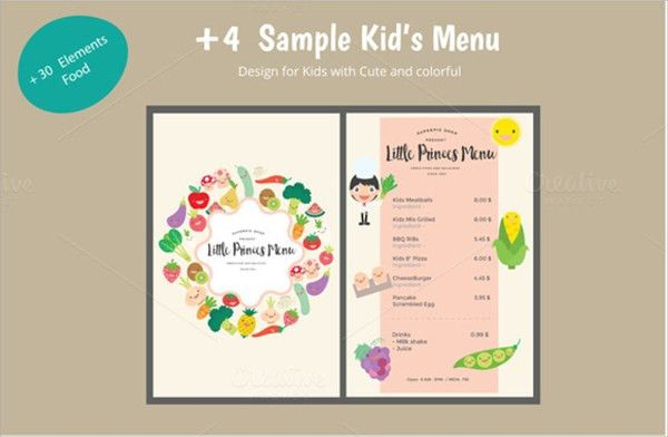 Awesome Menu Templates For Kids [Template.billybullock.us ]