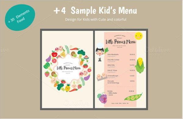 Beautiful Menu Templates For Kids [Template.billybullock.us ]