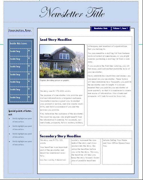 Best Photos of Microsoft Newsletter Templates - Free Microsoft ...