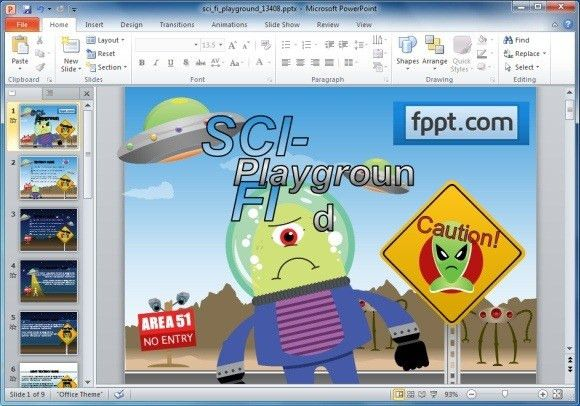 Animated Sci Fi PowerPoint Template For Kids & Educational ...