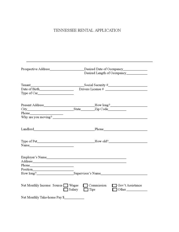 Tennessee Rental Lease Agreement Templates | LegalForms.org