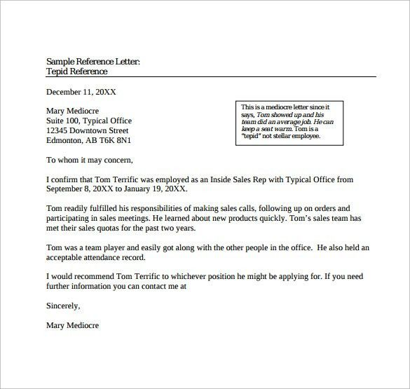 Sample Reference letter - 14+ Free Documents in PDF, Word
