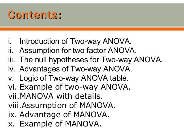 Two way anova+manova