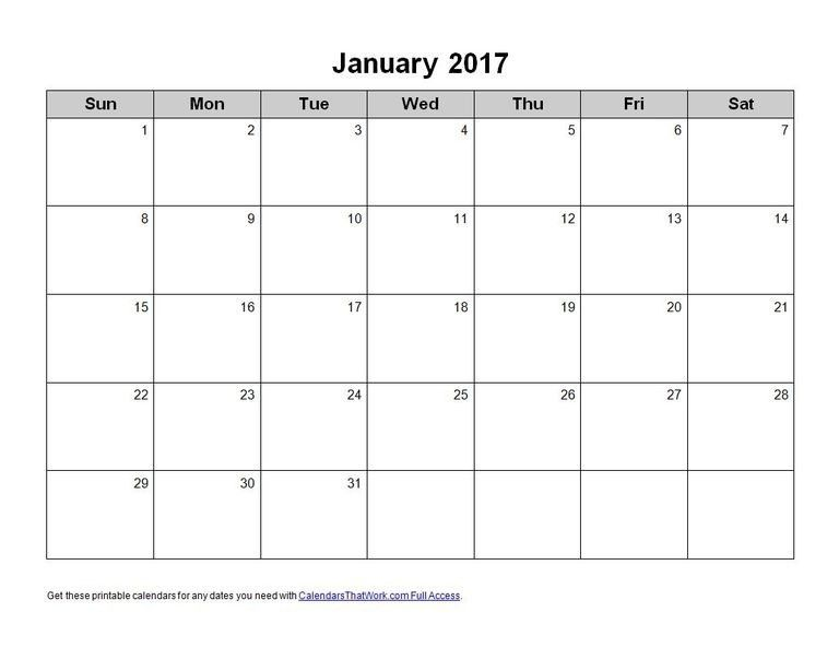 Calendar 2017 Ms Word | Calendar Picture Templates