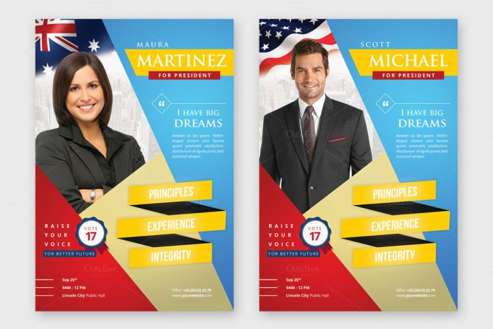 Political Flyer Template. Political Candidate Flyer Template ...
