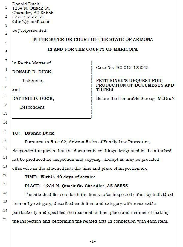 Request for Production of Documents and Things - Access Legal