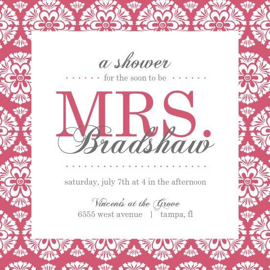Bridal Shower Brunch Invitations Template | Best Template Collection