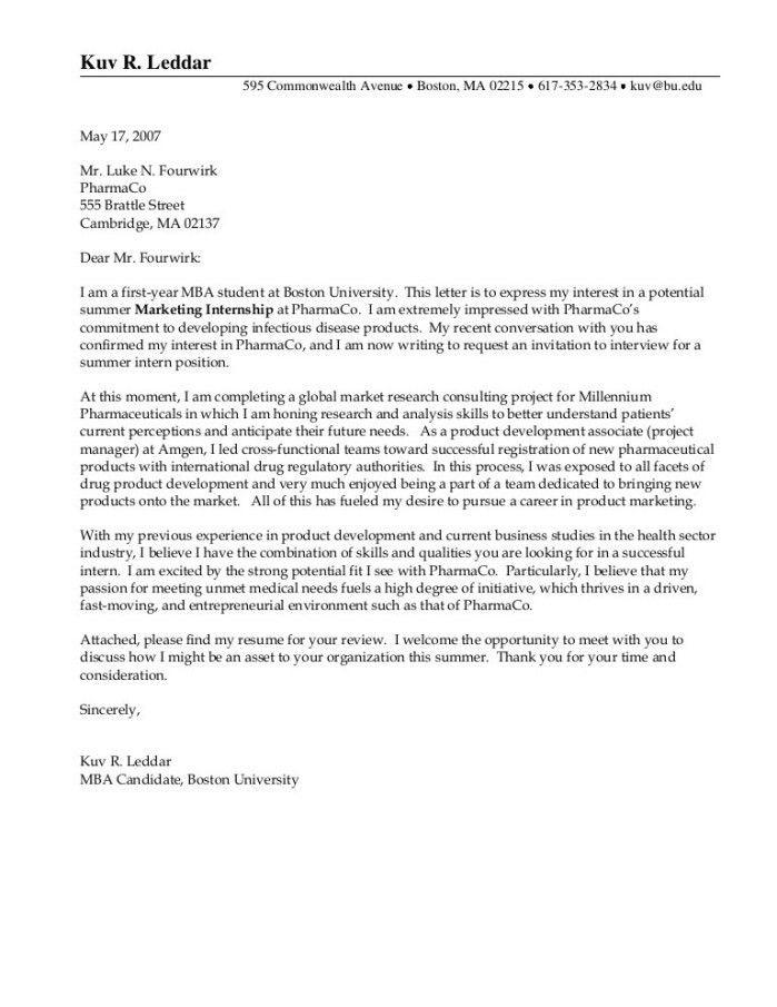 Randd Cover Letter
