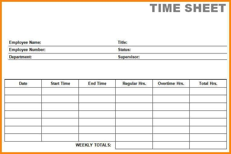 6+ free printable time sheets | media resumed