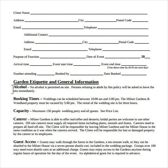 event vendor contract. sample event contract. printable event ...