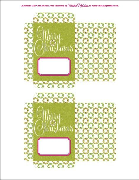 Free Gift Card Packet Printables | Cathe Holden's Inspired Barn