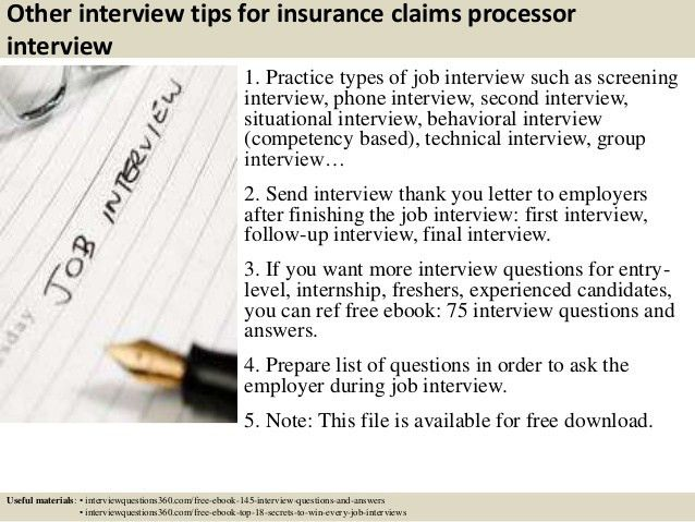 Top 10 insurance claims processor interview questions and answers