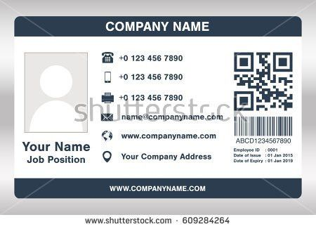 Id Card Template Stock Images, Royalty-Free Images & Vectors ...
