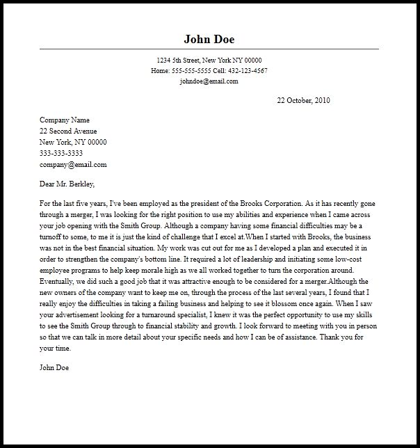 Professional President Cover Letter Sample & Writing Guide ...