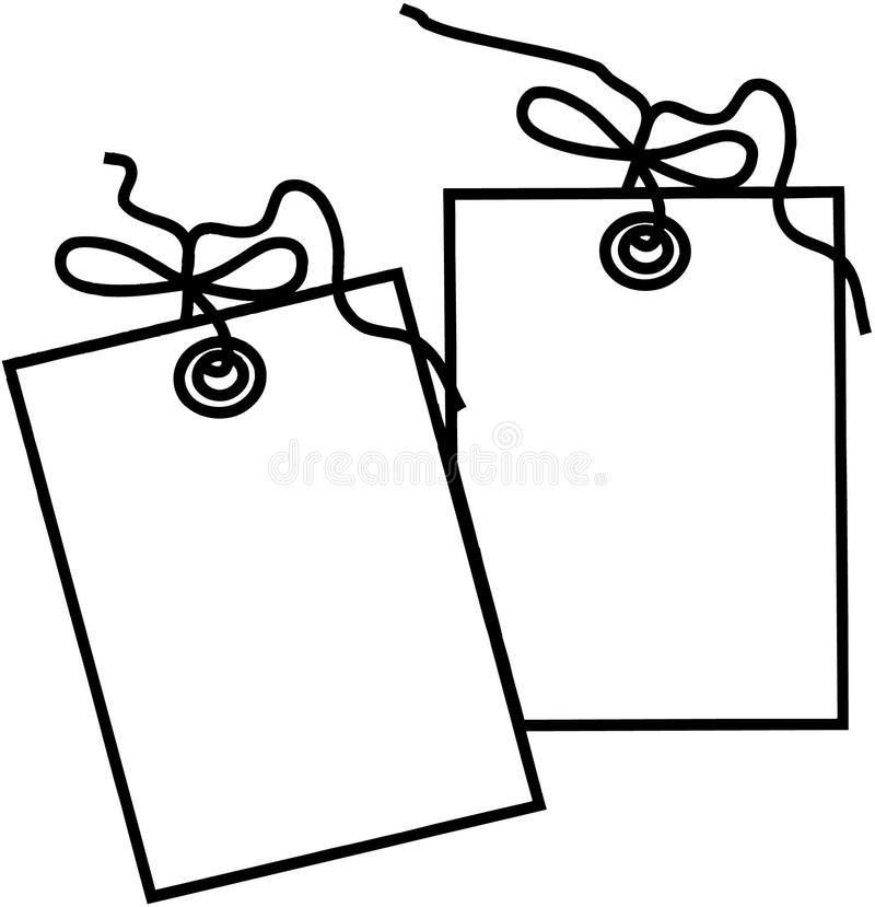 Gift Tag Template Cartoon Vector Clipart Stock Vector - Image ...
