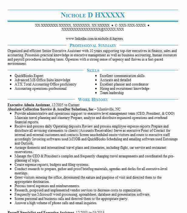 executive assistant resume examples executive assistant free