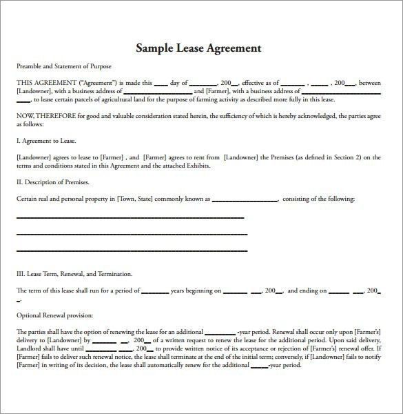 Amazing Land Lease Agreement Form Free Images - Best Resume ...