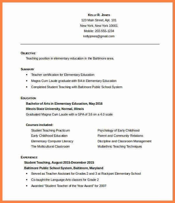 6+ free teacher resume templates | Invoice Example 2017
