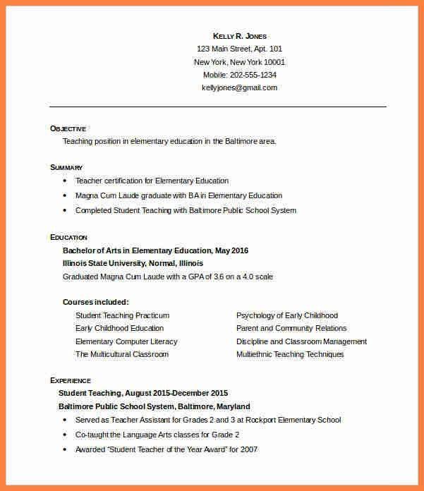 6+ free teacher resume templates   Invoice Example 2017