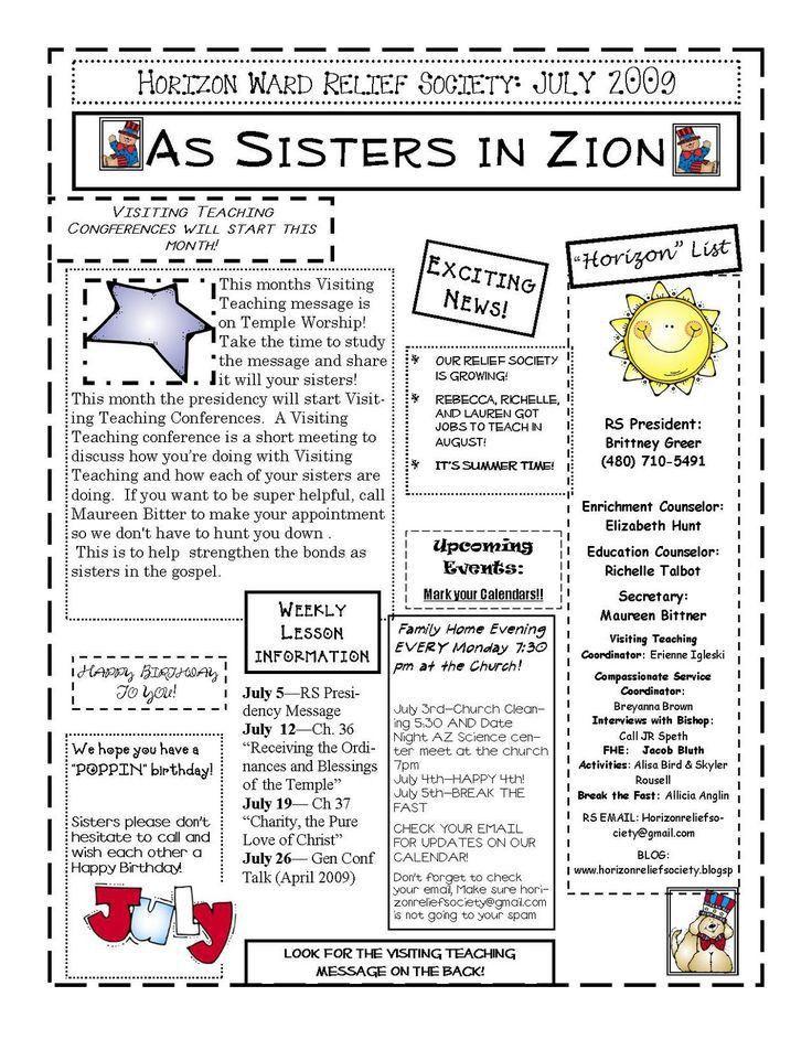 27 best LDS Ward Newsletter images on Pinterest | Church ideas ...