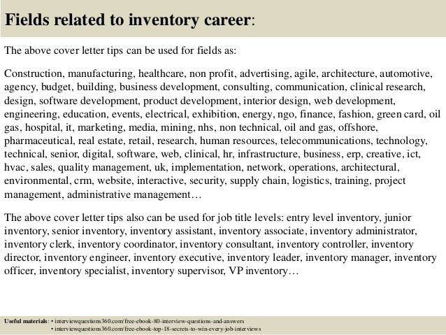 Top 10 inventory cover letter tips