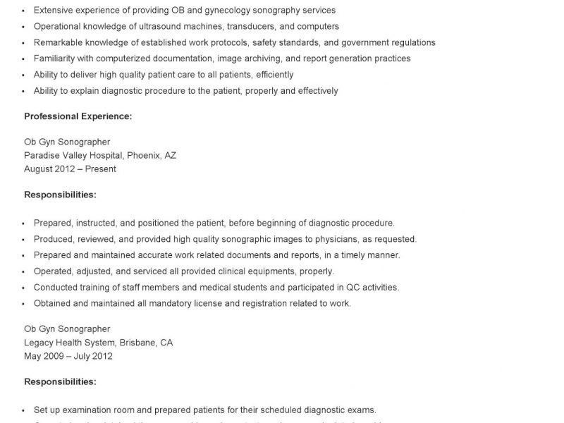 Cardiac Sonographer Resume. innovational ideas sonographer resume ...