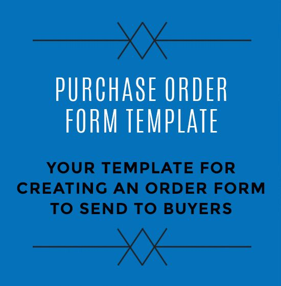 Purchase Order Form Template | StartUp FASHION