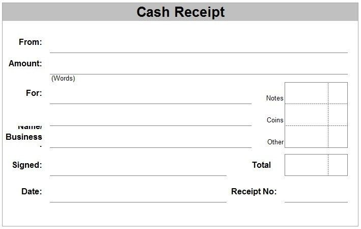 Receipt Template Word | rubybursa.com
