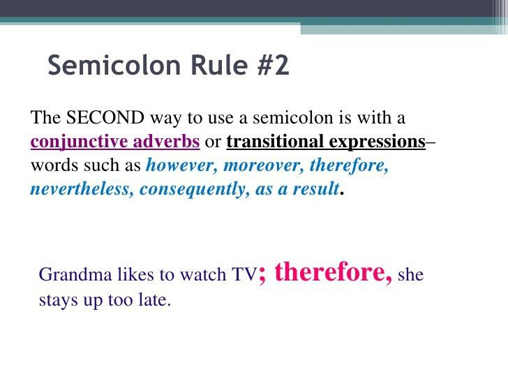 The semicolon power point 2010